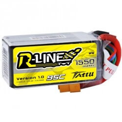Batterie Lipo TATTU 4S-R-LINE-1550-95C