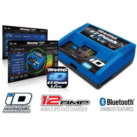 Traxxas Chargeur EZ-Peak Live iD Bluetooth 2971G
