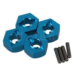 Hexagones de roues ALU + goupilles (4) 12 / 5,5 mm