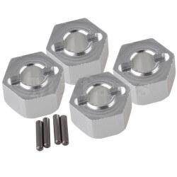 Hexagones de roues ALU + goupilles (4) 12mm/7mm