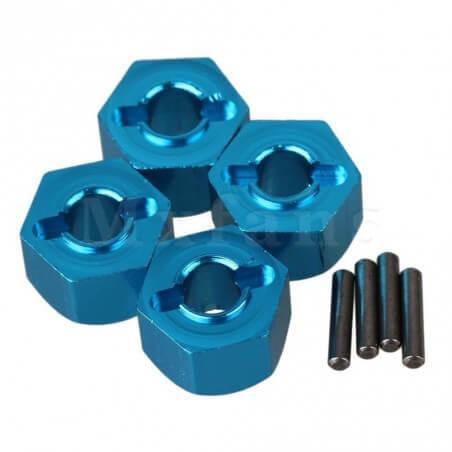 Hexagones de roues ALU + goupilles (4) 12mm/9mm