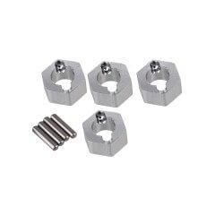 Hexagones de roues ALU + goupilles (4) Voitures 1/18