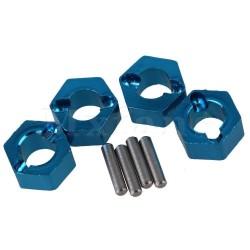 Hexagones de roues ALU 8mm+ goupilles (4) Voitures 1/18