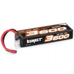 Konect Lipo 3600mah 11.1V 30C 3S1P (Slim Pack Dean)