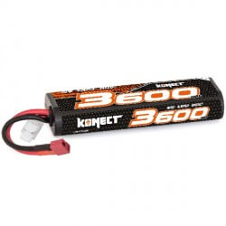 Konect Lipo 3600mah 7.4V 30C 2S1P (Stick Pack Dean)
