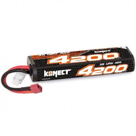 Konect Lipo 4200mah 7.4V 40C 2S1P (Stick Pack Dean)