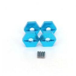 4 Hexagones de roues Alu Traxxas Slash 1/16