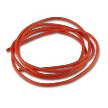 Cable silicone Rouge 18 AWG 0,75mm 1 Métre
