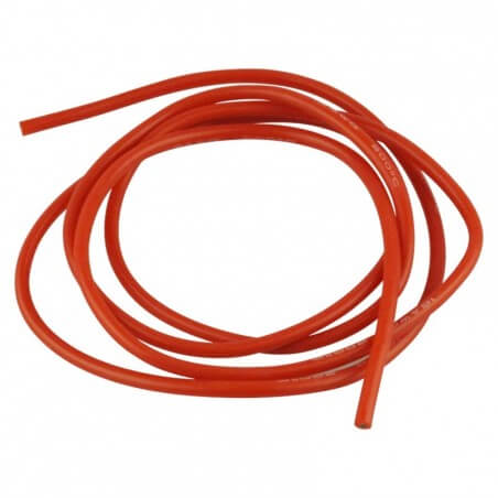 Cable silicone Rouge 16 AWG 1,5mm 1 Métre