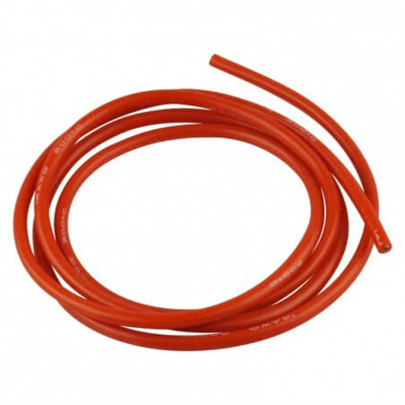 Cable silicone Rouge 14 AWG 2,5mm 1 Métre
