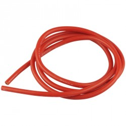 Cable silicone Rouge 12 AWG 4mm 1 Métre