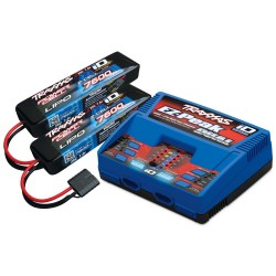 Traxxas Chargeur Double Sortie iD 100W 2972G + 2X Lipo 7.4V 7600mAh 2869X