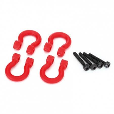 Crochets de pare chocs rouge (x4) Traxxas TRX 8234R