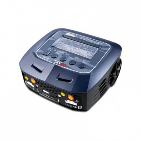 Chargeur Duo D100 v2 AC/DC (2x100W) Sky RC - SKY100131
