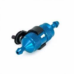 Hobbytech filtre é carburant alu bleu + support -HT-51758