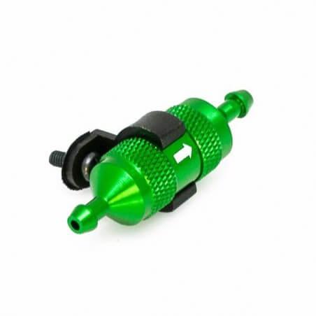 Hobbytech filtre é carburant alu vert + support -HT-51758G