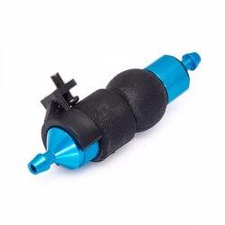 Hobbytech filtre é carburant alu bleu avec pompe d'amoréage + support -HT-51759B