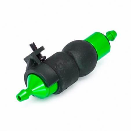 Hobbytech filtre é carburant alu vert avec pompe d'amoréage + support -HT-51759G