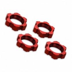 Traxxas Ecrous de Roues 17mm alu rouge (x4)  Traxxas 7758R