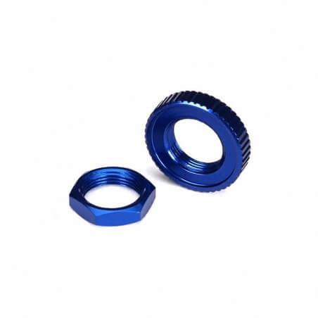 Traxxas Ecrou de Sauve-Servo Alu Bleu -TRX 8345