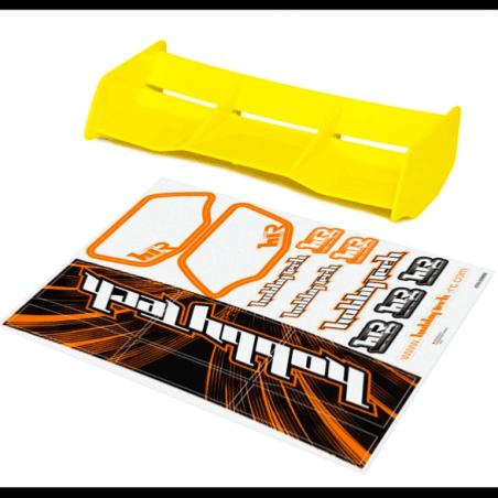 Aileron jaune Buggy 1/8 Racing + stickers