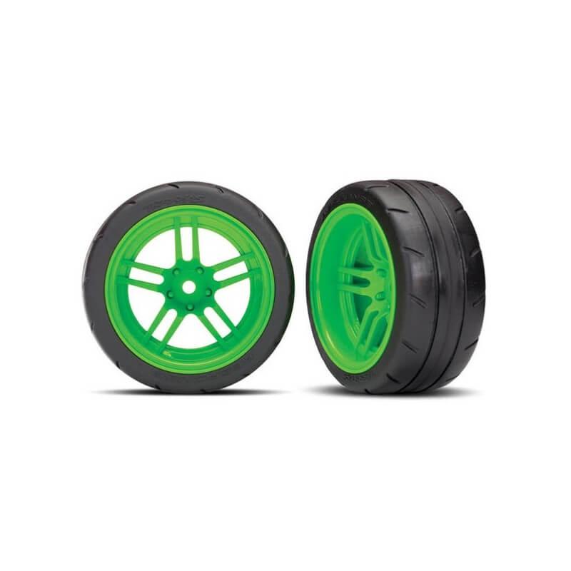 2 Pneus + Jantes Arriére Vert 1,9 -TRX 8374G