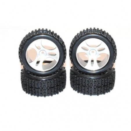 4 Roues pour buggy Mini-MHD 1/18 Wltoys A959- Z8359101