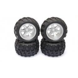 """4 roues équipées de pneus en """"V"""" pour Mini-MHD 1/18 - Z8379101"""