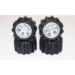 4 roues équipées de pneus pelle pour Mini-MHD 1/18 - Z8379102