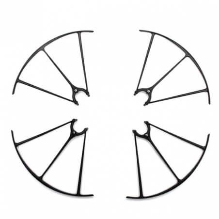 4 Protections Hélices NOIRE Drone SYMA X5HC / X5HW
