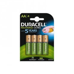 Pack 4 Piles Recharcheable R06 AA Duracell 2500mAH