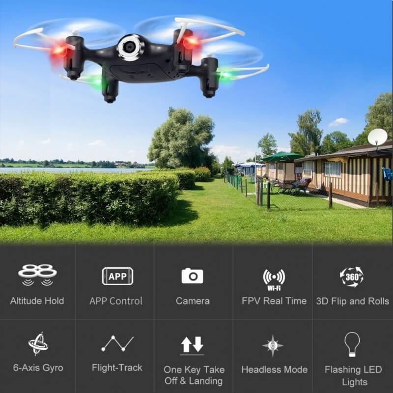 Drone SYMA X21W HD 720p avec Maintien d'Altitude