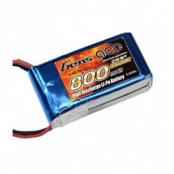 Batterie Lipo 7,4V 800mAh 40c Gens Ace (Rodeo 110)