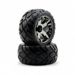 2 Pneus Anaconda 2.8 + Jantes All Star Noir Traxxas 3776A