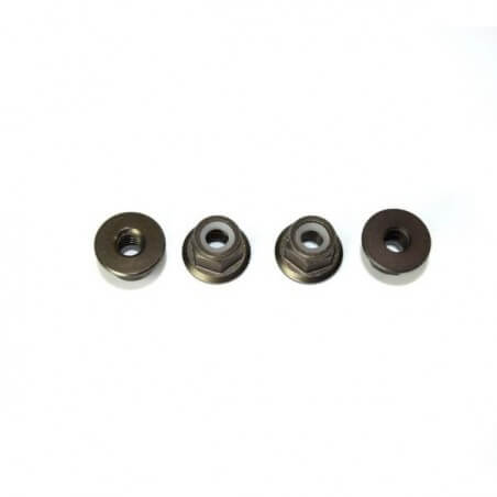 écrous Nylstop Aluminium M4 (x4) - Absima 1230235