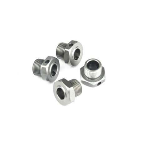 Hobbytech Hexagones de roues Spirit (x4) STR-049TI