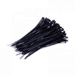 Lot de 100 Colliers nylon Noir 2,5 x 100mm