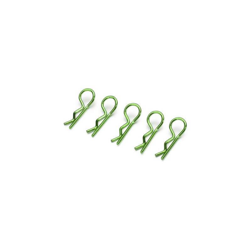 10 Clips de carrosserie Vert pour voitures 1/8
