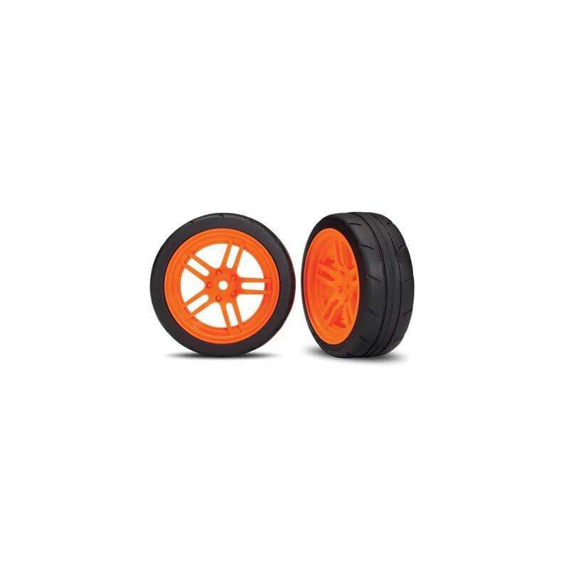 2 Pneus + Jantes Arriére Orange 1,9 -TRX 8374A