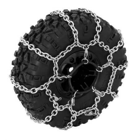 Hobbytech chaine neige pour pneus diam. 120mm TRX4.(1 paire) HT-SU1801007
