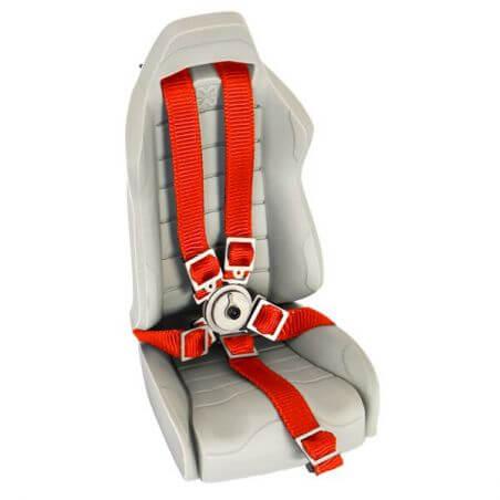 Hobbytech Ceinture de siège baquet Rouge avec attache en métal HT-SU1801078