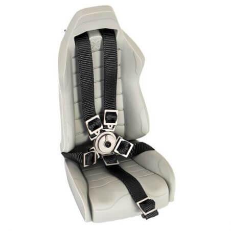 Hobbytech Ceinture de siège baquet Noir avec attache en métal HT-SU1801079