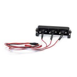 Hobbytech Rampe de projecteur LED oval an aluminium 75mm. HT-SU1801088