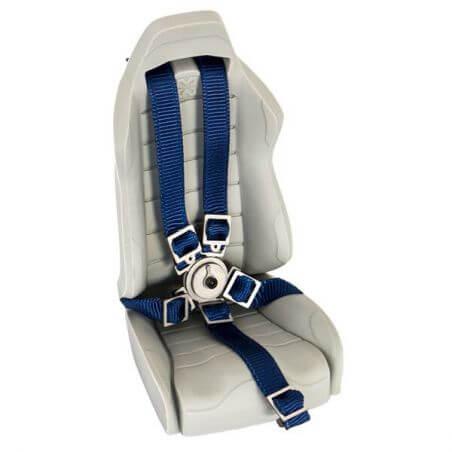 Hobbytech Ceinture de siège baquet Bleu avec attache en métal HT-SU1801077