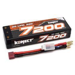 Konect Batterie LiPo KONECT 7200mAh 7.4V 50C 2S1P Slim Pack Dean  KN-LP2S7200