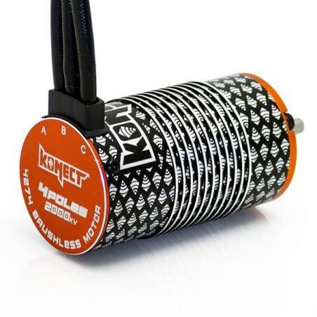Konect Moteur KONECT brushless 4 poles 1/8 4274 2000KV  KN-4274SL-4P-2000