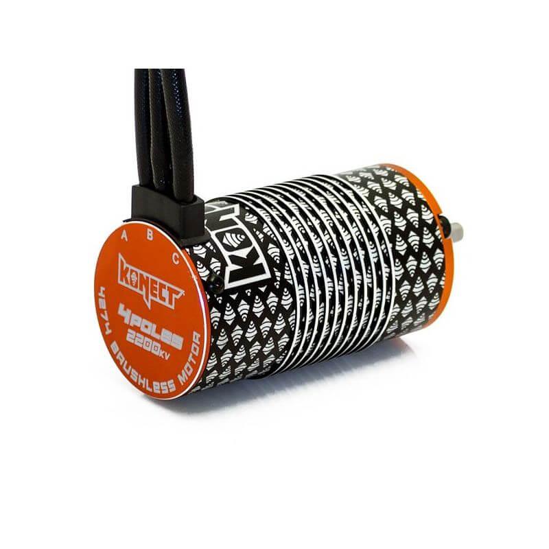 Konect Moteur KONECT brushless 4 poles 1/8 4274 2200KV  KN-4274SL-4P-2200