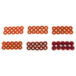 Hobbytech Set de rondelles et écrous en alu anodisé (60pcs)  HT-525010R