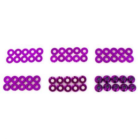 Hobbytech Set de rondelles et écrous en alu anodisé (60pcs)  HT-525010P
