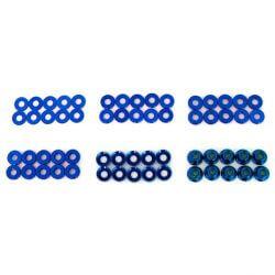 Hobbytech Set de rondelles et écrous en alu anodisé (60pcs)  HT-525010B